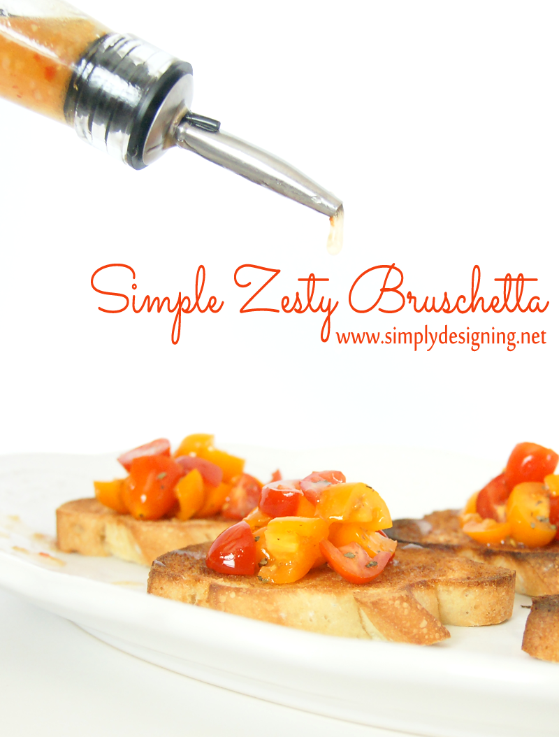 Simple Zesty Bruschetta | this is such a simple and delicious twist on the traditional bruschetta recipe!  a perfect appetizer to pin for later!  | #FoodDeservesDelicious #collectivebias #shop #recipe #appetizer #foodblogger