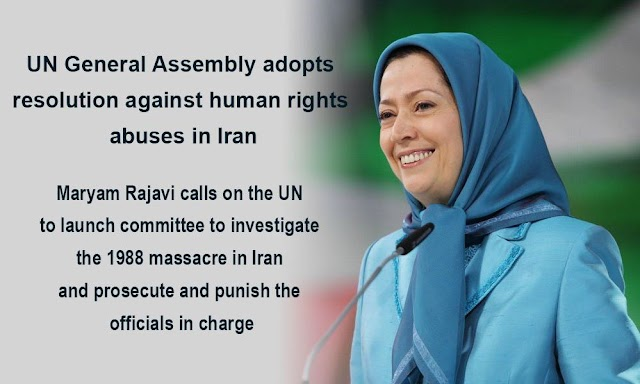 Maryam Rajavi calls on the UN to launch committee to investigate the 1988 massacre in Iran, and prosecute and punish the officials in charge