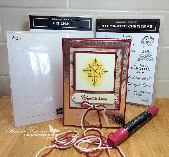 illuminated Christmas, His Light, Subtle TIEF, Christmas Card, Rhapsody in craft, Art with Heart, DIY Cards