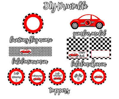 printable  DIY Car Birthday Party