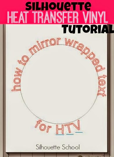 Mirror, wrapped text, HTV, heat transfer vinyl, Silhouette Studio