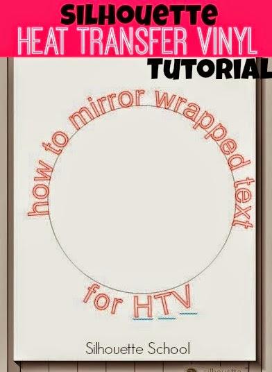 Mirror, wrapped text, HTV, heat transfer vinyl, Silhouette Studio