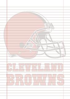 Papel Pautado Cleveland Browns PDF para imprimir na folha A4