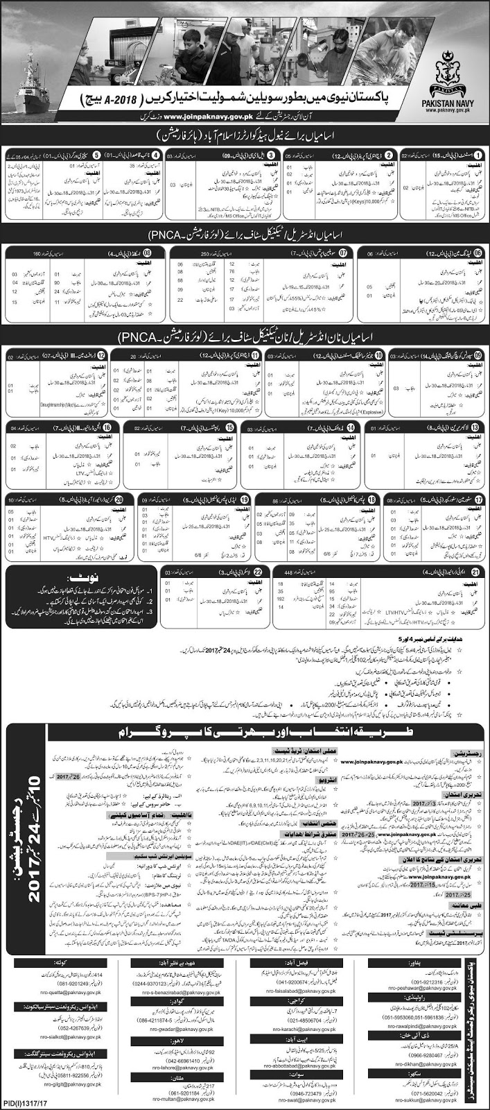 Assistant, Data Entry Operator, LDC, Constable Jobs In Pakistan Navy Sep 2017
