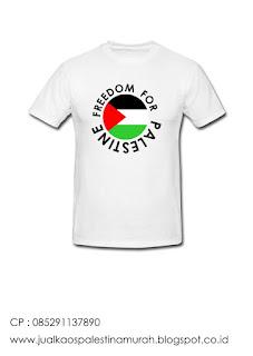Jual kaos palestina desain logo