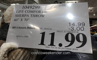 Deal for the Life Comfort Ultimate Sherpa Throw Blanket at Costco