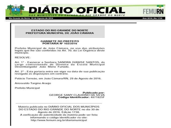 Tolerância zero e descumprimento da lei eleitoral: Diretora da escola de Assunção, Sandra Ivanise foi exonerada ,por não acompanhar grupo político do prefeito Vavá.