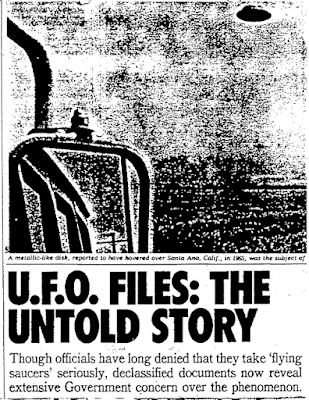 U.F.O. Files The Untold Story By Partick Huyghe (Pt 1A) - New York Times (10-14-1979)