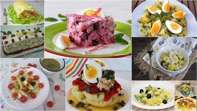 Riquísimas ensaladas con patata. Julia y sus recetas