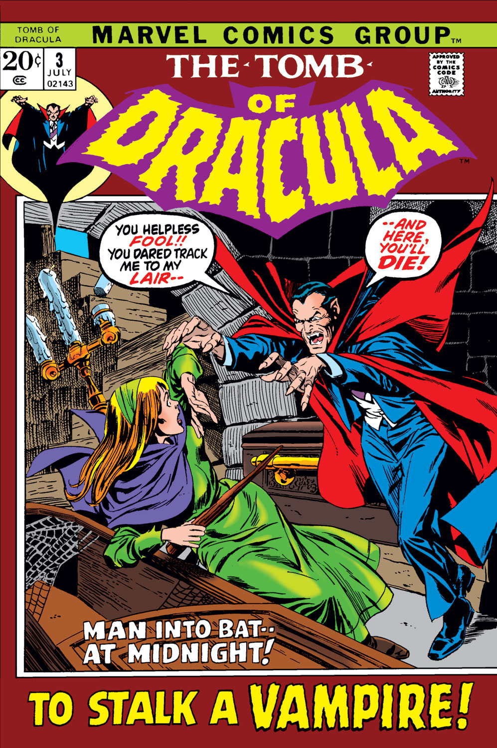 Tomb of Dracula (1972) issue 3 - Page 1