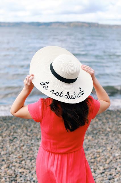 Do not disturb straw hat