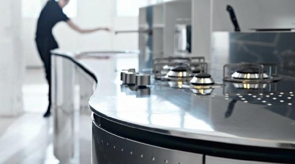 Marzua islas de cocina con curvas de la cucina alessi for Definicion de cocina