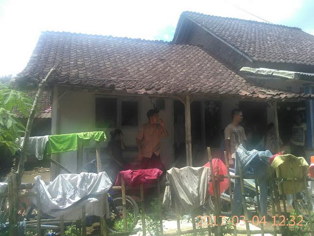 Rumah Nabia bersama ke-4 anaknya tinggal