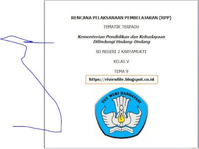 RPP Tematik Terpadu K 13 Kelas 5 SD Semester 2 Tema 9 Sub Tema 1, 2, 3