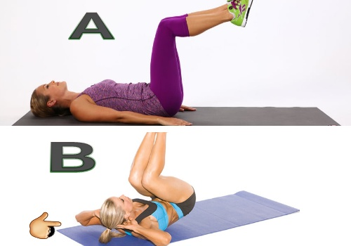 workouts for women's abs, reverse crunches
