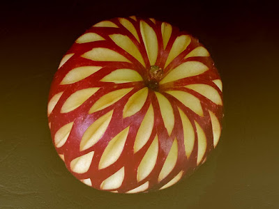 amazing apple fruit carving art