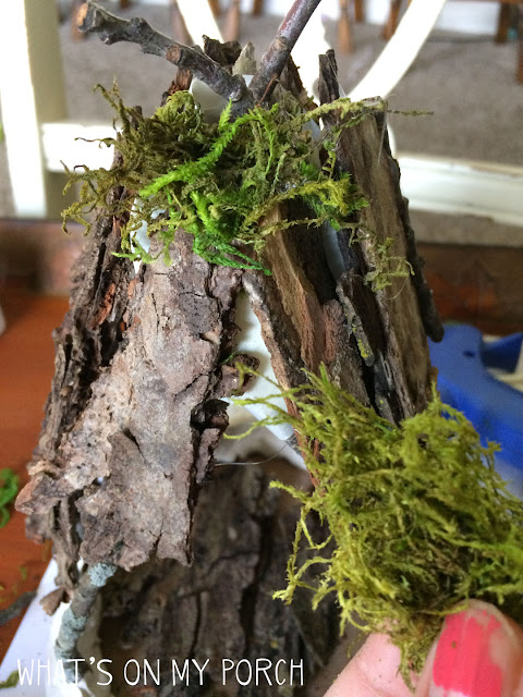 Fairy house using moss