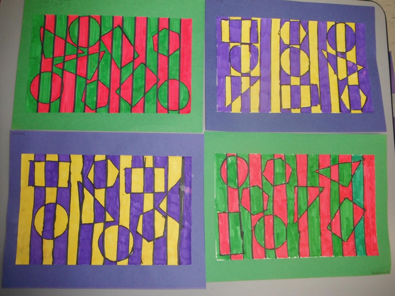Cassie S Corner 2nd Grade Op Art