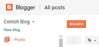 Tampilan Baru Dashboard Blogger Lebih Simple dan Praktis