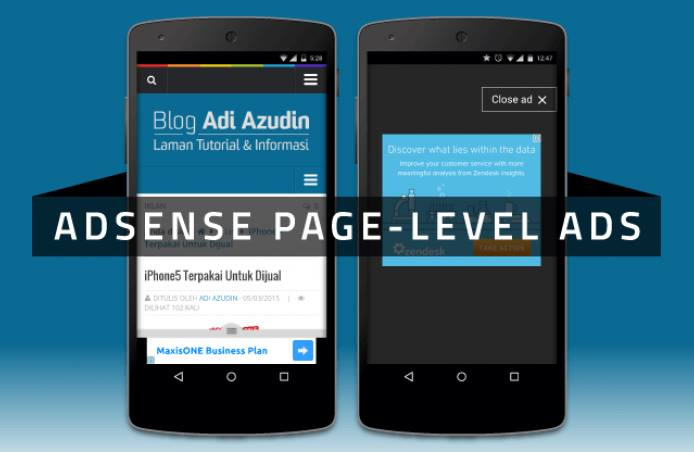 How To Put Adsense Page level ads for mobile in blogger