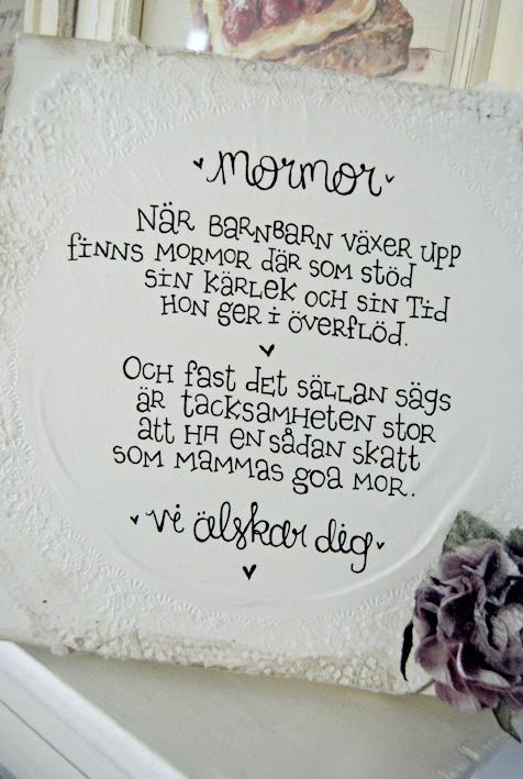 grattis mormor dikt Ljusa rum i dalarna: Canvas till mormor grattis mormor dikt
