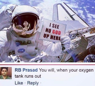 "An astronaut says ""i see no God up here"" and gets this Epic response"
