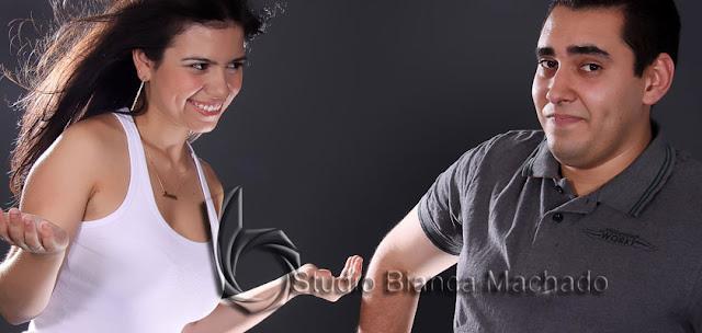 fotos namorados em estudio