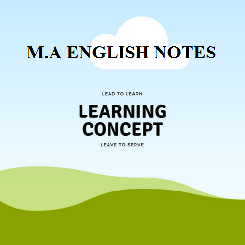 UOS M A English Complete Notes in Pdf ~ Sadaqat Academy