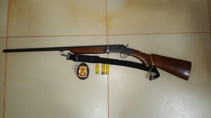 POLÍCIA CIVIL DE RURÓPOLIS APREENDE ARMA DE FOGO NA ZONA RURAL DO MUNICÍPIO