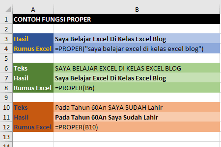 Contoh Fungsi Proper Excel