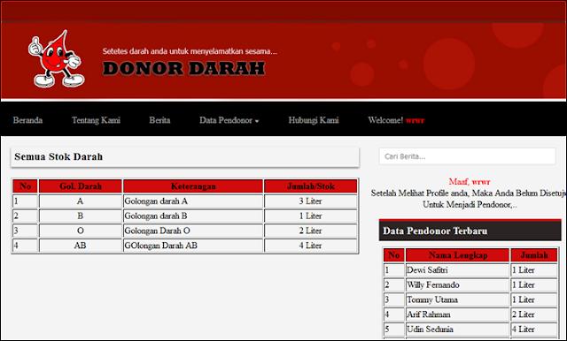 scripts website, website pendaftran, script php