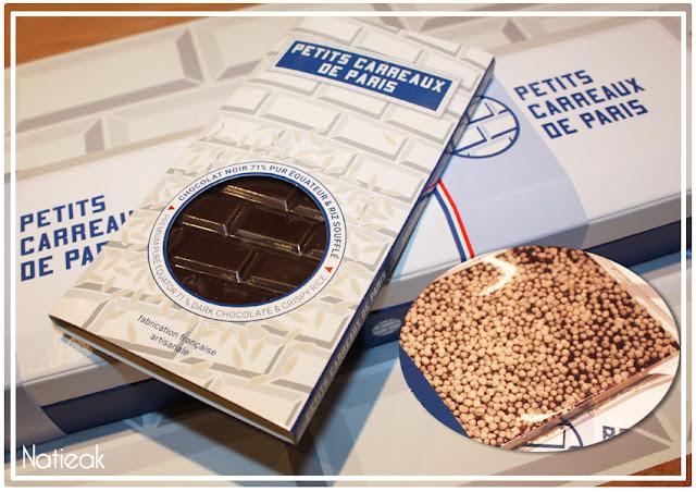 Tablette chocolat riz soufflé de Petits carreaux de Paris