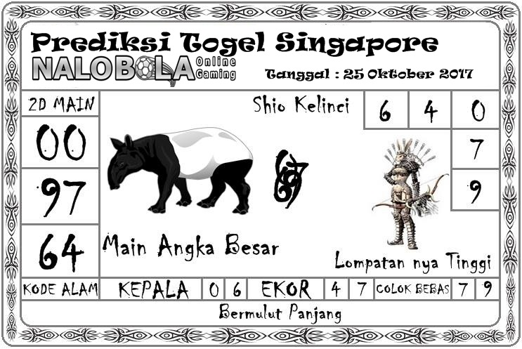 Prediksi Togel Singapore 25 Oktober 2017 - Bandar Casino ...