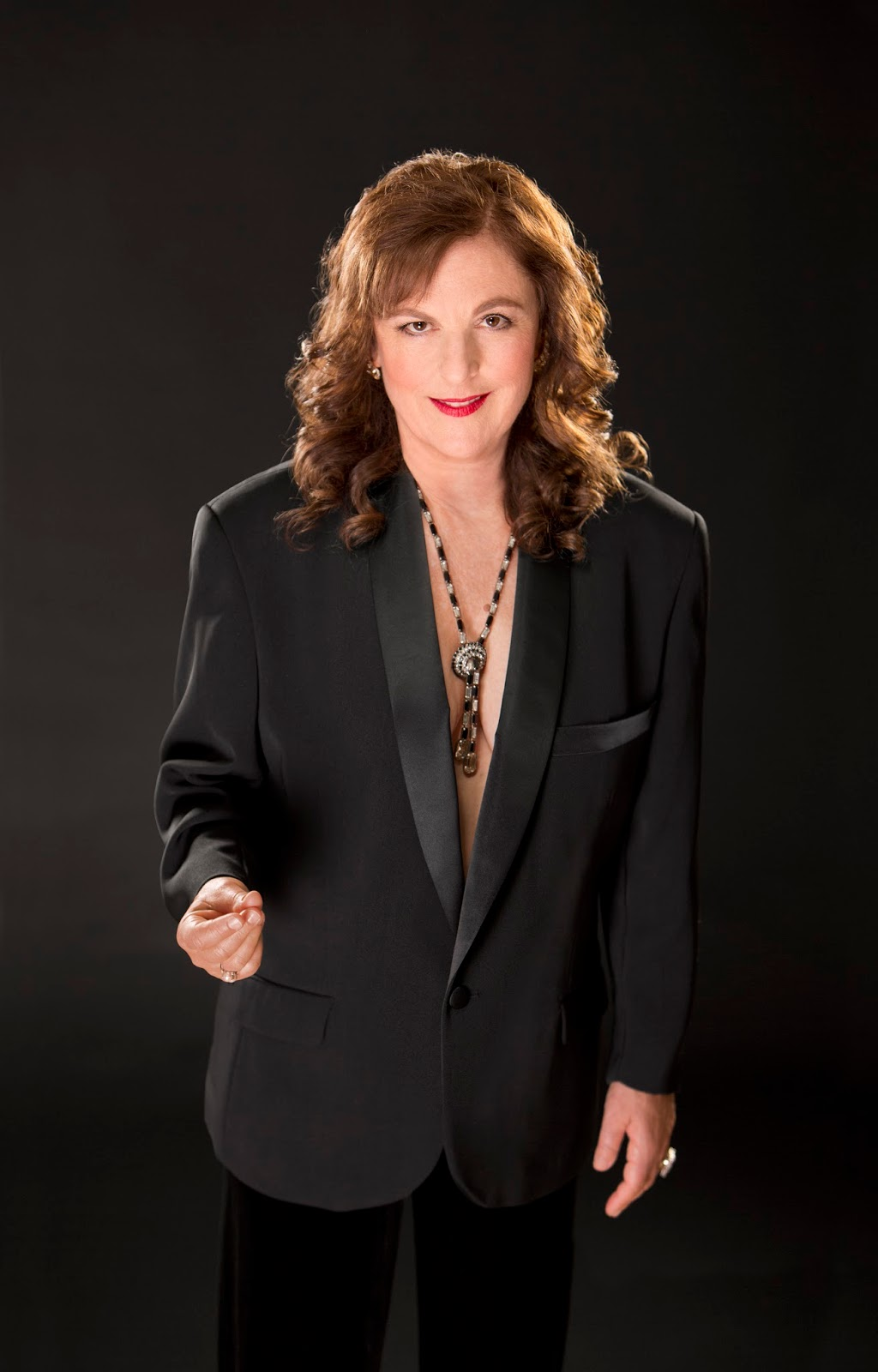 Lisa B (Lisa Bernstein) in tux