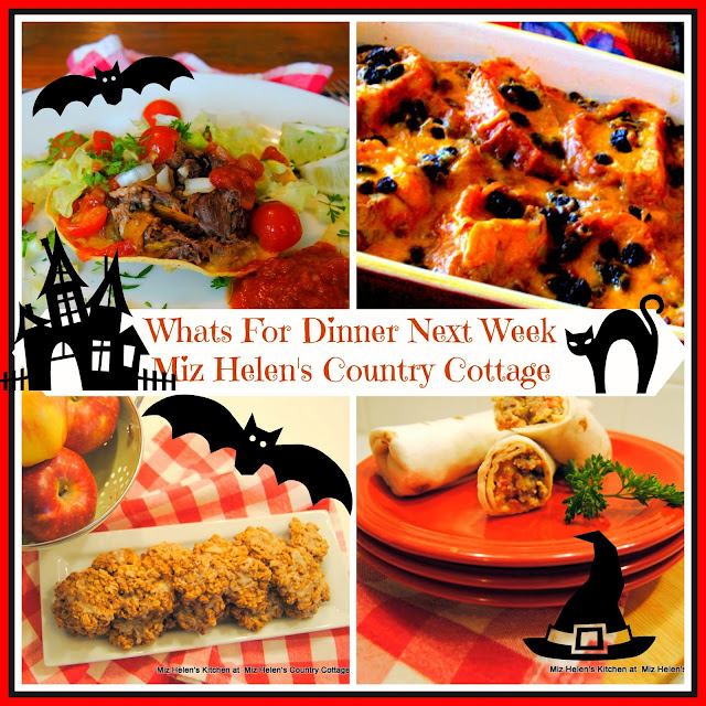 Whats For Dinner Next Week 10-28-18 at Miz Helen's Country Cottage