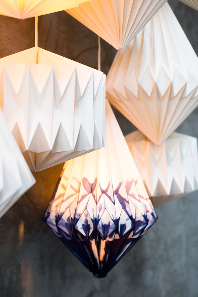 Paper Lantern Lights with Accent Decor