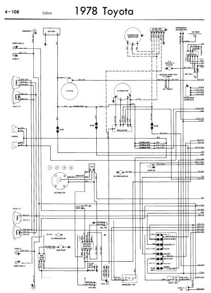 repair-manuals: Toyota Celica A40 1978 Wiring Diagrams