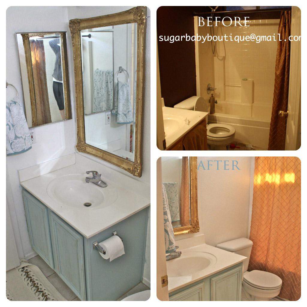 Bathroom Makeovers For Small Bathrooms: Sugar Baby Boutique: Elegant Bathroom Makeover