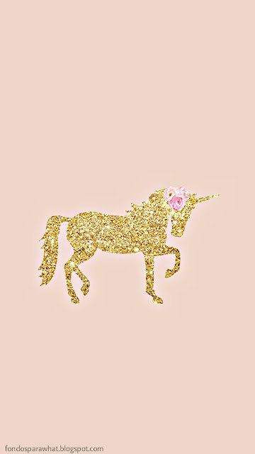 3 Fondos de Unicornio dorado