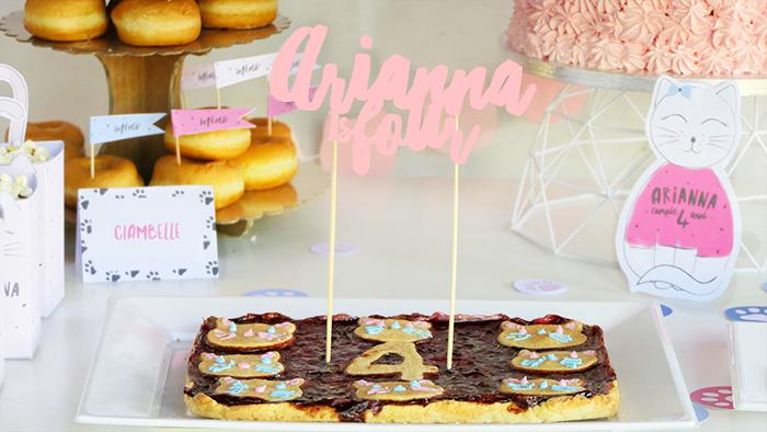 topper torta sagomato con nome