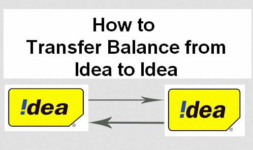 4 Methods) Idea to Idea Balance Transfer code USSD working 2019