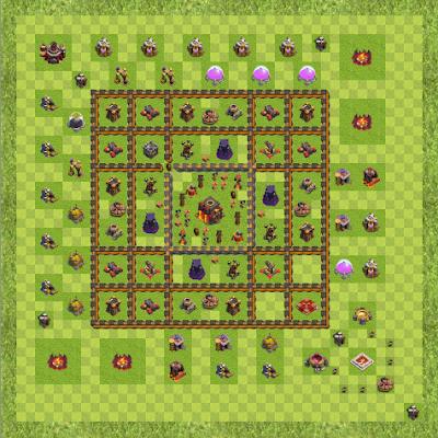 War Base Town Hall Level 10 By Joshua Rarick (Level 8 TH 10 Layout)