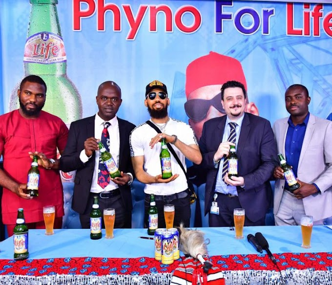 Nigerian Breweries Unveils Phyno As Brand New Ambassador For Life Lager Beer