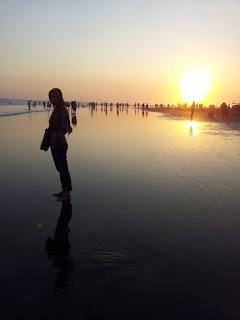 sunset wisata pantai parangtritis jogjakarta yogyakarta http://www.wisataarea.com/