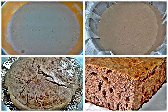 Preparación del bizcocho de castañas sin azúcar