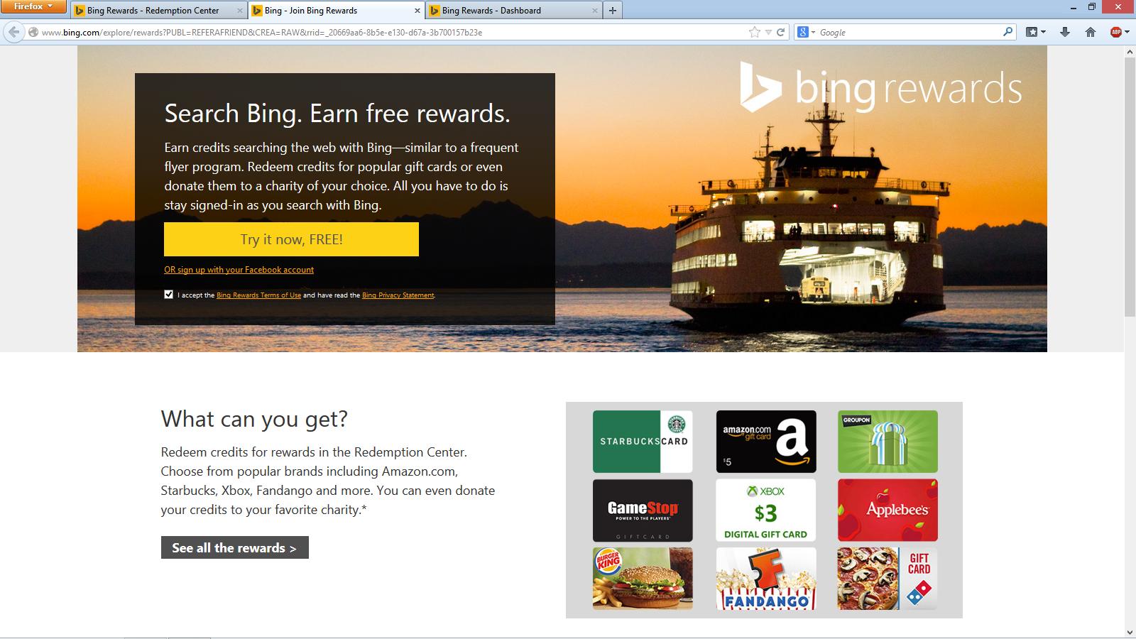 Rewards bing