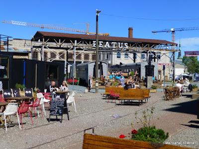 Restaurant Peatus en un antiguo vagón de tren, Kalamaja Tallin