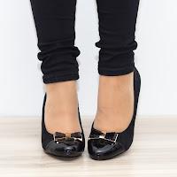Pantofi dama Angra negri cu toc gros • modlet