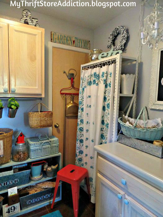 Laundry room refresh and chandy