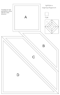Imaginesque: Quilt Block 22: Templates for Hand Piecing